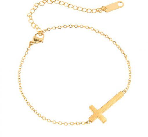 Solitary Cross Bracelet